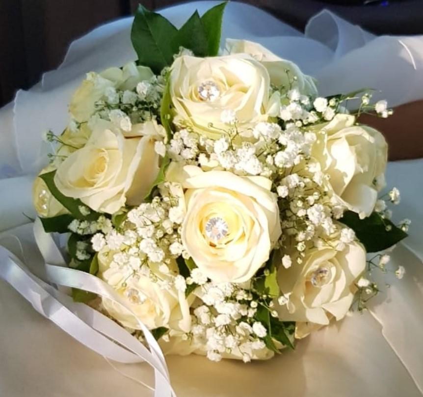 Foto Bouquet Sposa.Bouquet Da Sposa Semplice Oasi Dei Fiori